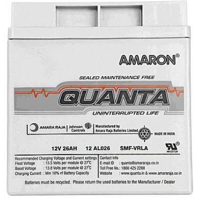 Amaron Quanta SMF Battery 26AH/12V | 12AL026